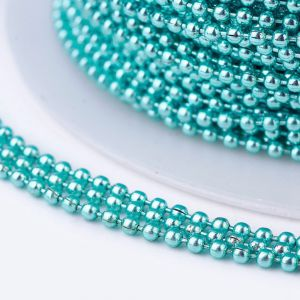 Iron ball chains 1,5 mm electrophoresis turquoise - 0,5 m