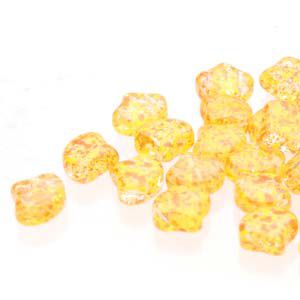 Ginko 7,5 mm CONFETTI SPLASH  ORANGE YELLOW - 20 szt