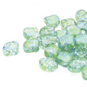Ginko 7,5 mm CONFETTI SPLASH BLUE GREEN - 20 szt