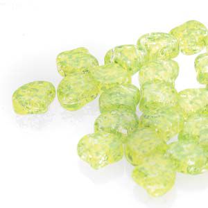 Ginko 7,5 mm CONFETTI SPLASH YELLOW GREEN - 20 szt