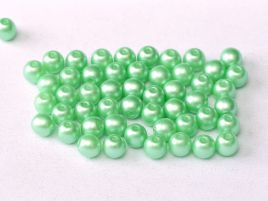 Round Beads 2 mm Alabaster Pastel Lt.Green - 50 szt