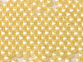 Round Beads 2 mm Alabaster Pastel Cream - 50 szt