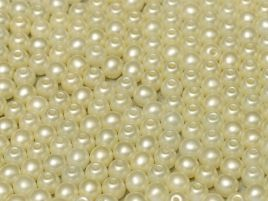 Round Beads 2 mm Alabaster Pastel Lt.Cream - 50 szt