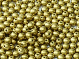 Round Beads 2 mm Alabaster Metallic Olivine - 50 szt