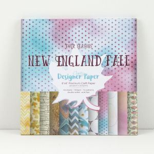 Premium Craft Paper- New England Fall - Four Seasons Collection  20,3x20,3 cm  ( 2-stronny)- 48 szt