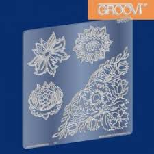 Szablon do Pergamano Wallflowers Groovi® Plate A5 Square - 1 szt
