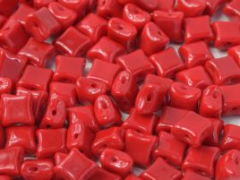 Wibeduo® 8 x 8 mm Opaque Red  - 10 szt